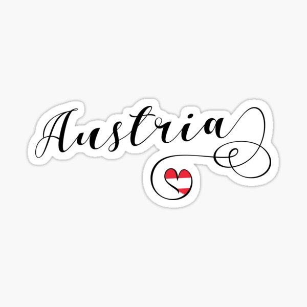 Heart Austria, Austrian, I Love Austria, Österreich Sticker