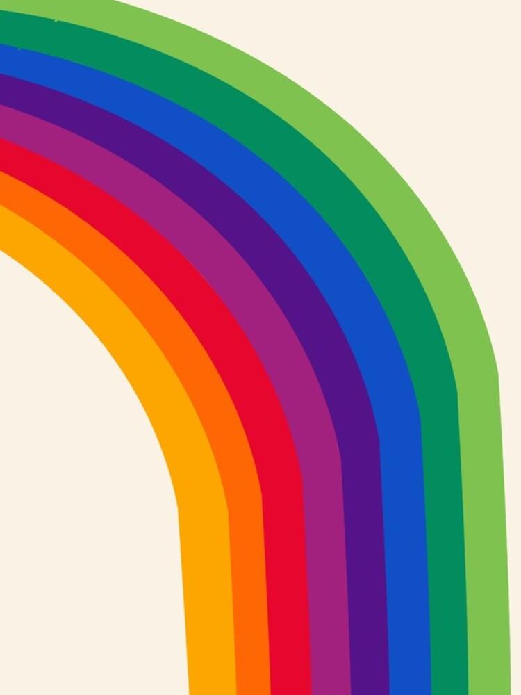 Groovy - rainbow 70s 1970s style retro throwback minimal happy hippie art decor by 78designs