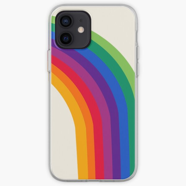 Groovy - rainbow 70s 1970s style retro throwback minimal happy hippie art decor iPhone Soft Case