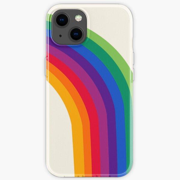 Groovy - rainbow 70s 1970s style retro throwback minimal happy hippie art decor iPhone Soft Case