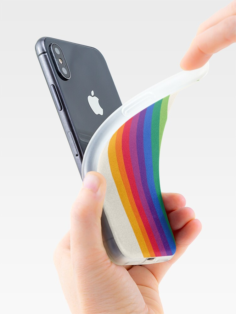 Alternate view of Groovy - rainbow 70s 1970s style retro throwback minimal happy hippie art decor iPhone Case & Cover