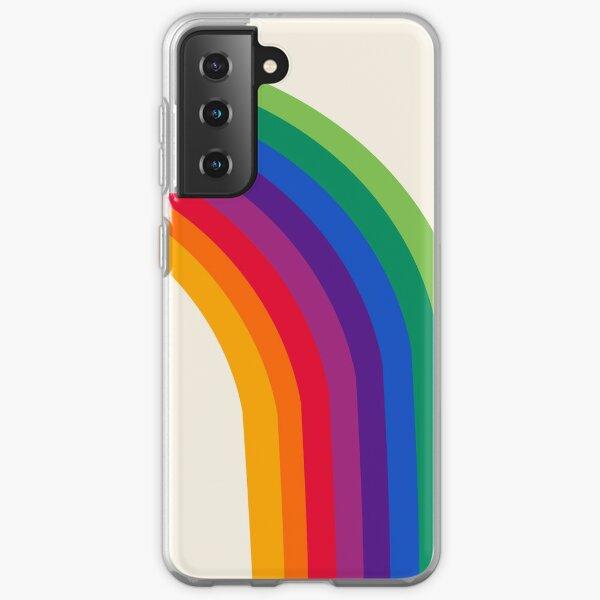 Groovy - rainbow 70s 1970s style retro throwback minimal happy hippie art decor Samsung Galaxy Soft Case