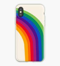 Vinilo o funda para iPhone Groovy - arco iris de los años 70 de los años 70 estilo retro throwback minimal happy hippie art decor