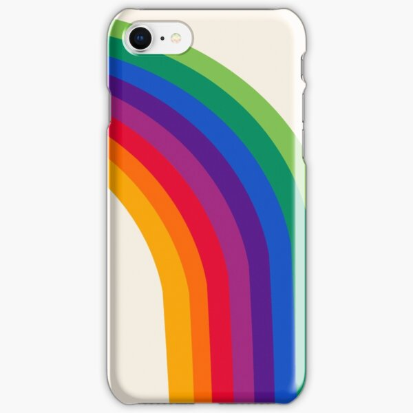 Groovy - rainbow 70s 1970s style retro throwback minimal happy hippie art decor iPhone Snap Case