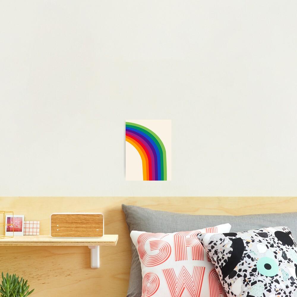 Groovy - rainbow 70s 1970s style retro throwback minimal happy hippie art decor Photographic Print