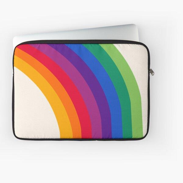 Groovy - rainbow 70s 1970s style retro throwback minimal happy hippie art decor Laptop Sleeve
