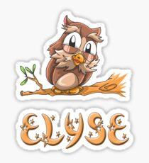 Elyse Owl Sticker