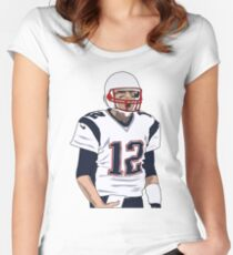 tom brady  Women's Fitted Scoop T-Shirt