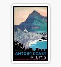 Vintage Giants Causeway Antrim Coast Ireland Sticker