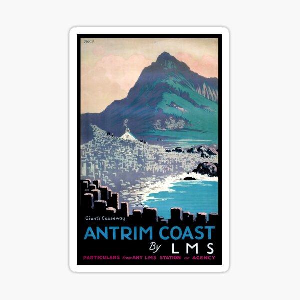 Vintage Giants Causeway Antrim Coast Ireland Sticker