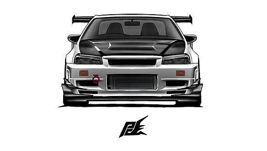 Nissan Skyline Gtr R34 Nismo Posters By Naquash Redbubble