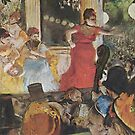 Original Edgar Degas French Impressionism Oil Painting Restored Woman Singing by jnniepce