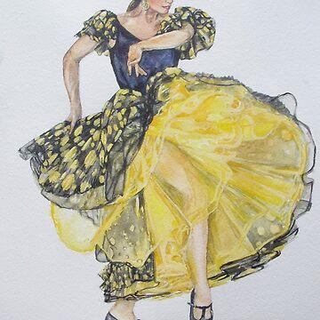 Flamenco - Yellow by Anthropolog