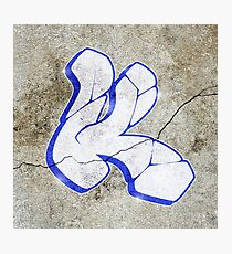 K - Graffiti letter Photographic Print