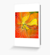 Leo Zodiac Horoscope Painting Greeting Card