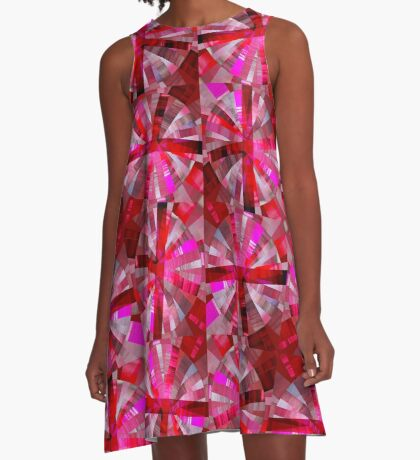 Ultimate Pink Pattern A-Line Dress