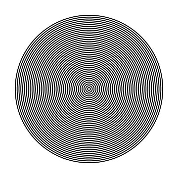 Offset Concentric Circles Pattern 002 by rupertrussell