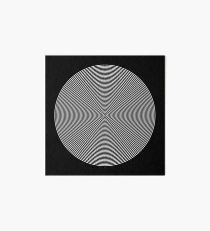 Offset Concentric Circles Pattern 002 Art Board Print
