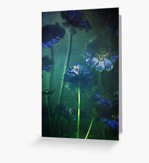 Blue Scabiosa Greeting Card