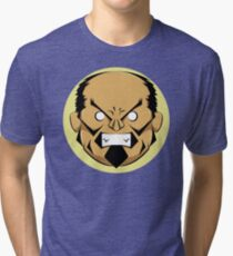 Angry Samurai | Yellow Variation Tri-blend T-Shirt