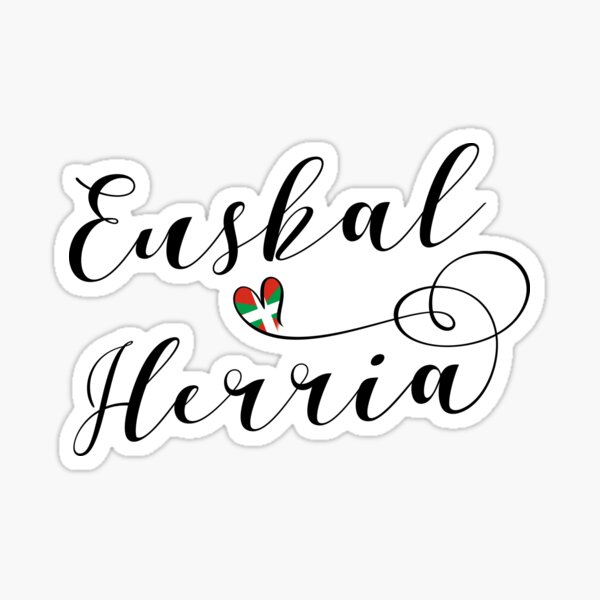 Basque Country, Heart Euskal Herria, Heart Basque Country Sticker