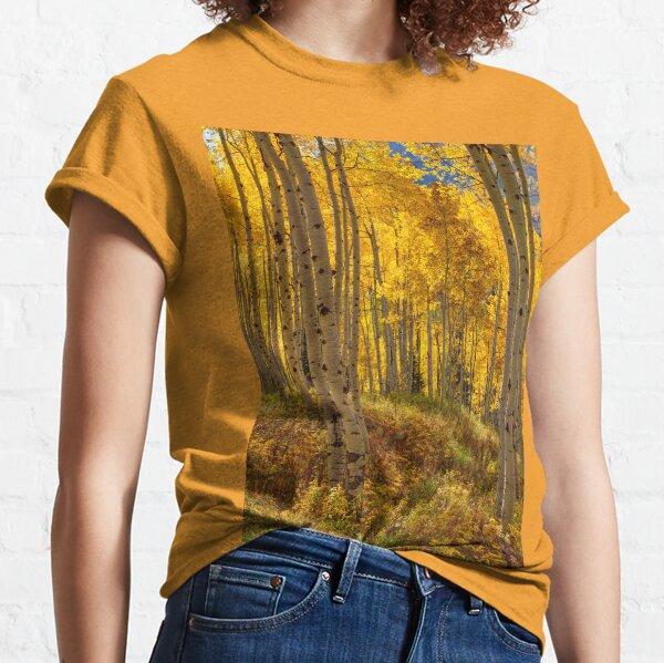 Autumn Aspen Forest Aspen Colorado Panorama Classic T-Shirt