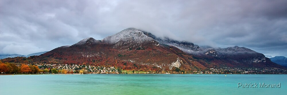 Annecy lake and first snow on the mountains by Patrick Morand