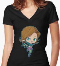 Irma Women's Fitted V-Neck T-Shirt