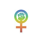 Rainbow gradient feminist symbol with fist by WesternExposure