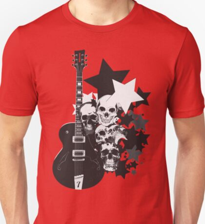 Stars Guitars & Skulls T-Shirt