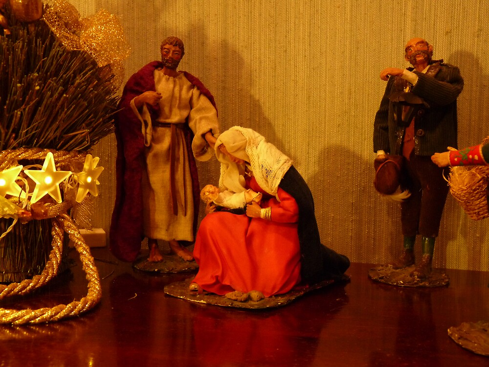 An ancient crib - The Holy Family by presbi
