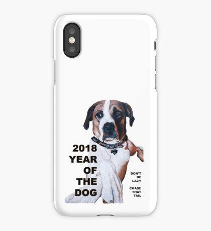 The Year of the Dog 2018 iPhone Case