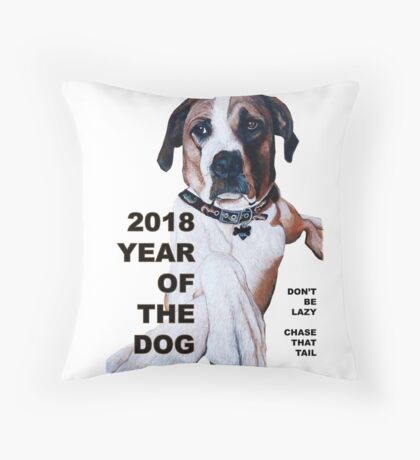 The Year of the Dog 2018 Throw Pillow