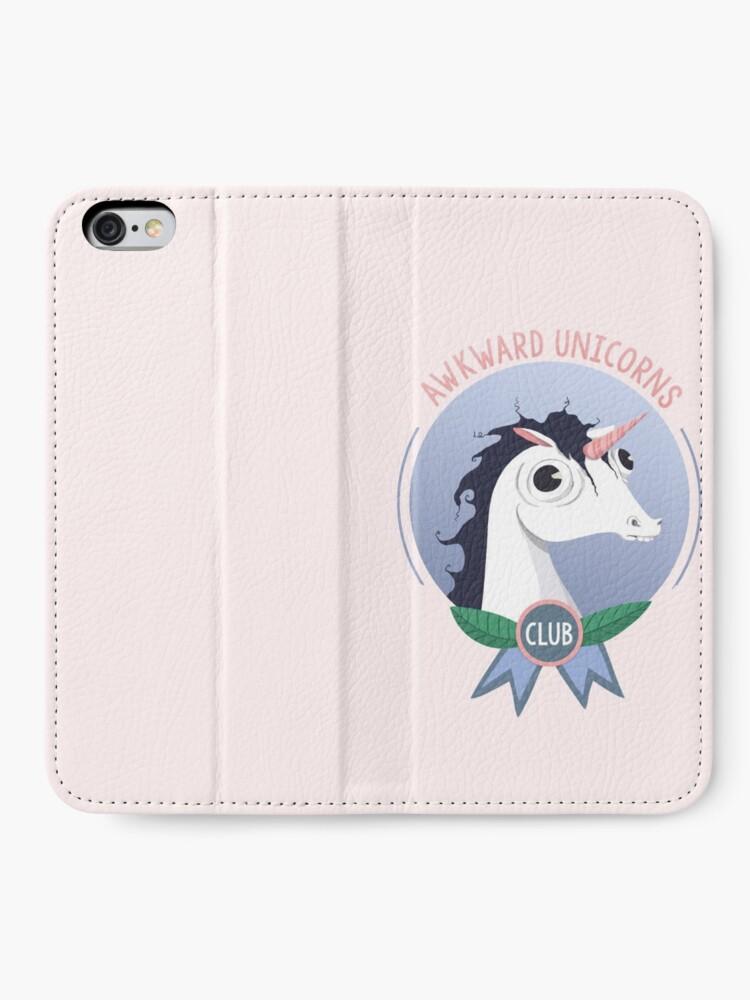 Alternate view of Awkward Unicorns Club iPhone Wallet