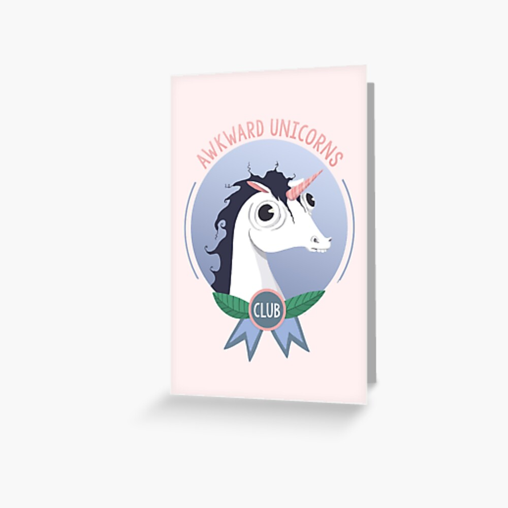 Awkward Unicorns Club Greeting Card