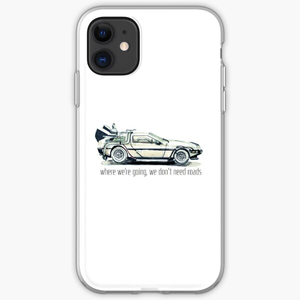 where we're going, we don't need roads iPhone Soft Case