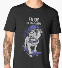 Skater Pug Men's Premium T-Shirt