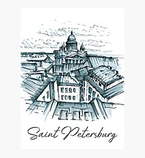 Saint Petersburg. St. Isaac's Cathedral, view with roofs. Photographic Print