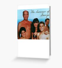 The Summer of George Greeting Card