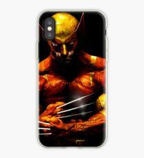 Wolverine photo manipulation artwork iPhone Case