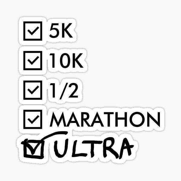 Ultra Marathon Running Sticker