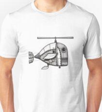 Fishcopter Takes Flight Unisex T-Shirt