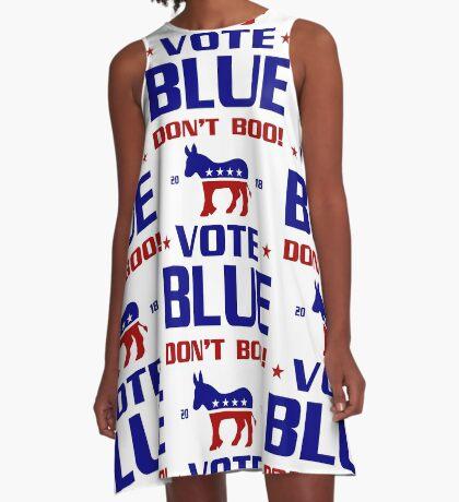 Dont Boo Vote Blue 2018 A-Line Dress