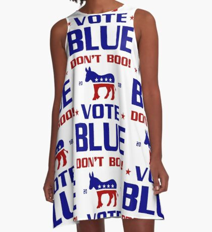 Dont Boo Vote Blue 2018 A-Line Dress