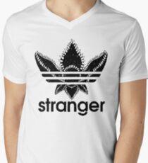 stranger things demogorgon head black Men's V-Neck T-Shirt