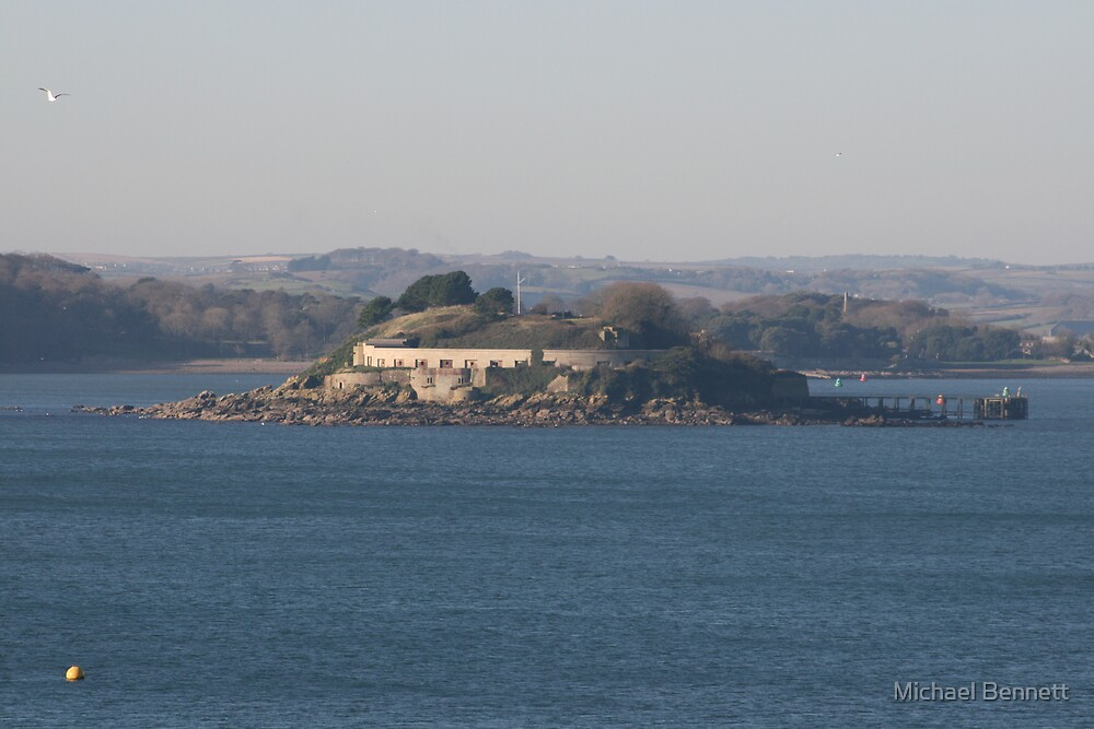 Drakes island Plymouth by Michael Bennett