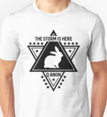 Q Anon The Storm Is Here White Rabbit Unisex T-Shirt