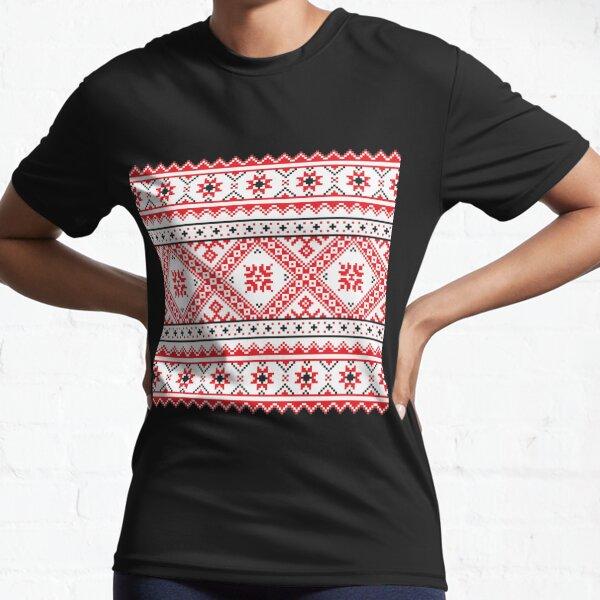 #Ukraine #Pattern - Ukrainian Embroidery: вишивка, vyshyvka #UkrainianPattern #UkrainianEmbroidery Active T-Shirt