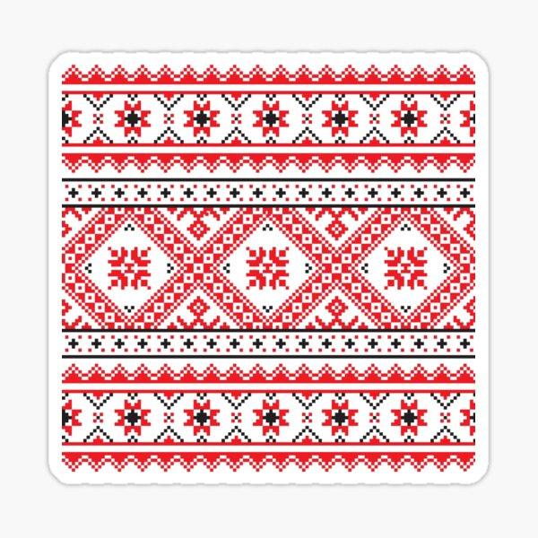 #Ukraine #Pattern - Ukrainian Embroidery: вишивка, vyshyvka #UkrainianPattern #UkrainianEmbroidery Sticker