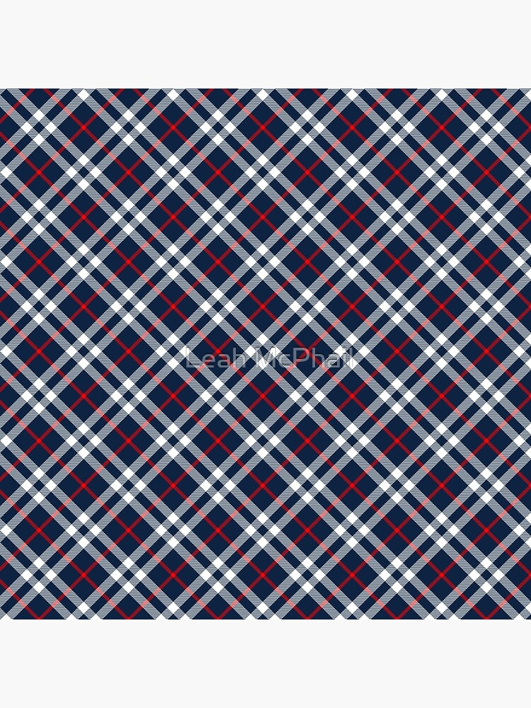 Red White and Blue Tartan by LeahMcPhail